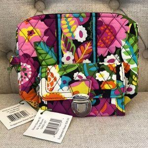 Vera Bradley Medium Cosmetic Bag & Quick Swipe ID